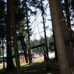 Този кръг беше на сравнително ниско, но в парка имаше и много високи съоражения